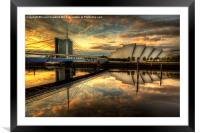 Glasgow At Night, Framed Mounted Print