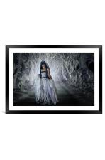 Woodland Bride, Framed Mounted Print