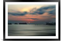 Across Down Beach - Limbe, Framed Mounted Print
