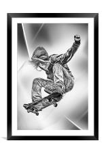 Skateboard Jump, Framed Mounted Print
