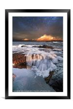 Dunbar Evening Sea Waves, Framed Mounted Print