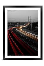 Trail Lights to Forth Road Bridge, Framed Mounted Print