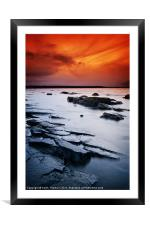 Seton Sands Sunset, Framed Mounted Print
