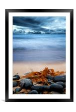 Beach and Stones, Framed Mounted Print