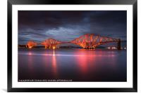 Forth Rail Bridge, Framed Mounted Print