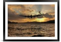 Lancaster and the Lake, Framed Mounted Print