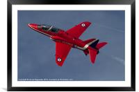 Up Close Red 5, Framed Mounted Print
