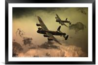 Lancaster Fire In The Sky, Framed Mounted Print