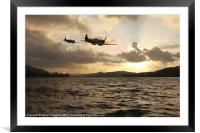Low Level Practice, Framed Mounted Print