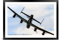 Lancasters Little Shadow, Framed Mounted Print
