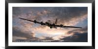 The Flying Fortress, Framed Mounted Print