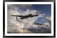 Lancaster and Mosquito Legends, Framed Mounted Print