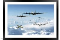B17 Fortress Europe, Framed Mounted Print
