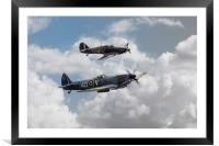 RAF Fighting Pair, Framed Mounted Print