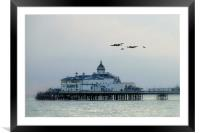 Over the Pier , Framed Mounted Print