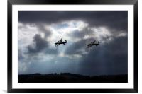 Twin Bombers, Framed Mounted Print