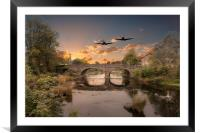 Over The Bridge , Framed Mounted Print