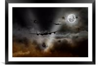 Night Bombers , Framed Mounted Print