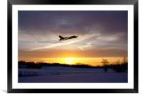 Vulcan Sundown , Framed Mounted Print