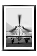 Spitfire Taxi , Framed Mounted Print
