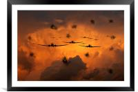 Airborne Invasion , Framed Mounted Print