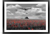 Over The Fields - Selective , Framed Mounted Print