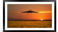 Vulcan Farewell Fly Past (Landscape), Framed Mounted Print