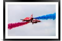 Synchro Pair red Arrows, Framed Mounted Print