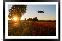 Bomber Sundown, Framed Mounted Print