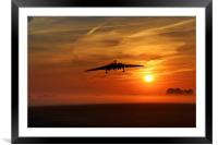 Vulcan Return To Base, Framed Mounted Print