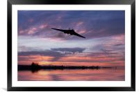 Vulcan Over The Water, Framed Mounted Print