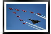 Vulcan And Red Arrows, Framed Mounted Print