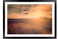 Warbird Fly Past, Framed Mounted Print