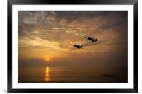 Sunset Spits, Framed Mounted Print