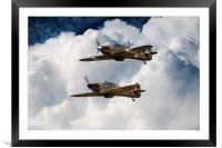 The BBMF Hurrys, Framed Mounted Print