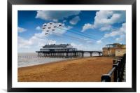 Red Arrows At Cleethorpes, Framed Mounted Print