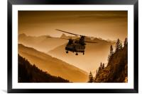 Chinook Sepia, Framed Mounted Print