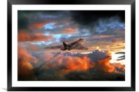 Crimson Bomber, Framed Mounted Print