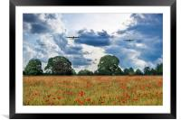 Bombers Overhead, Framed Mounted Print