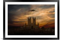 Vulcan And Lincoln Cathedral, Framed Mounted Print