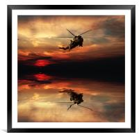 Sea King Sunset, Framed Mounted Print