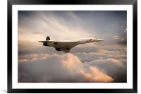Classic Concorde, Framed Mounted Print
