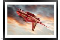 Red Over Head, Framed Mounted Print