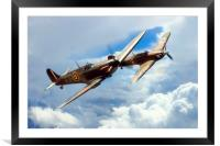 The BBMF Spitfire and Hurricane, Framed Mounted Print