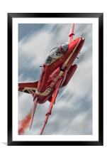 Synchro Red, Framed Mounted Print