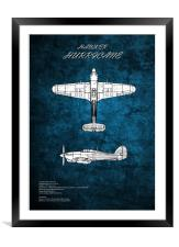 Hawker Hurricane, Framed Mounted Print