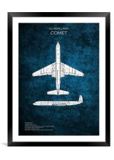 de Havilland Comet, Framed Mounted Print