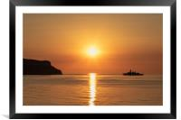 HMS Somerset in Llandudno Bay, Framed Mounted Print