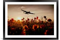 Over The Fields They Flew, Framed Mounted Print
