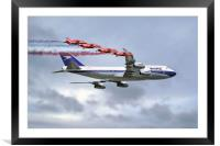 BOAC Special Livery 747 with The Red Arrows, Framed Mounted Print